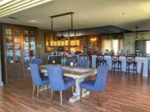 The overall living/dining room is quite spacious
