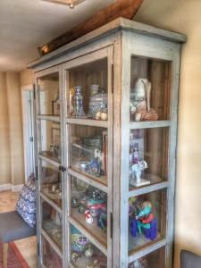A curio cabinet chock full of family memories