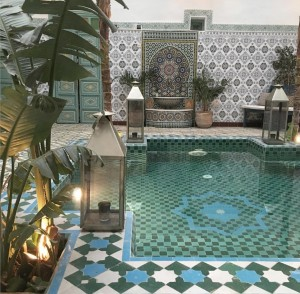 A pool in a riad in Morocco