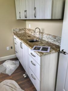 New granite and sinks installed