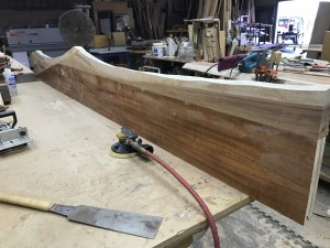 Koa slab shelves nearly complete