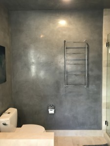Charcoal Venetian Plaster adds drama!