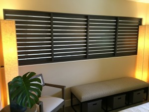 The bedroom side of the slats allow airflow AND maximum privacy